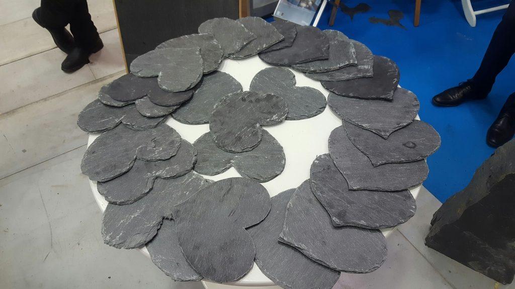 heart-shaped slate