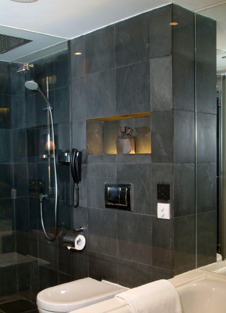 slate tiles in shower