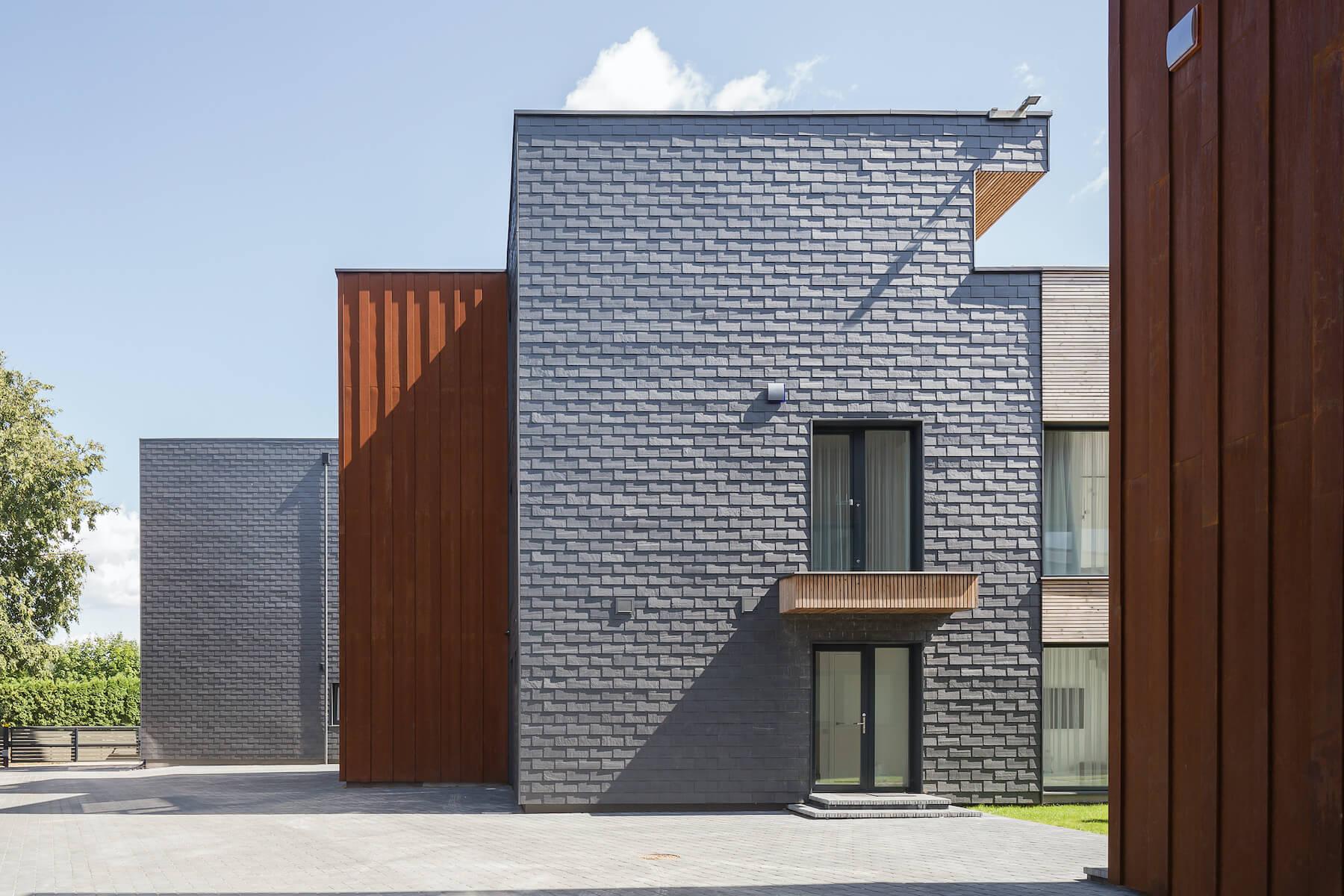 slate tiles on buildings