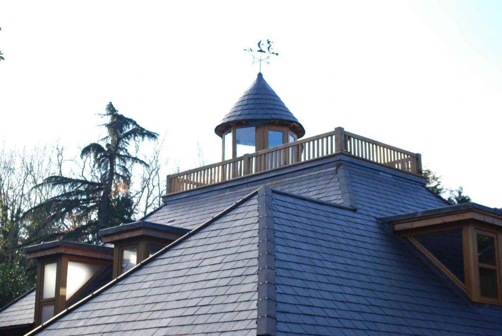 slate tiled roof