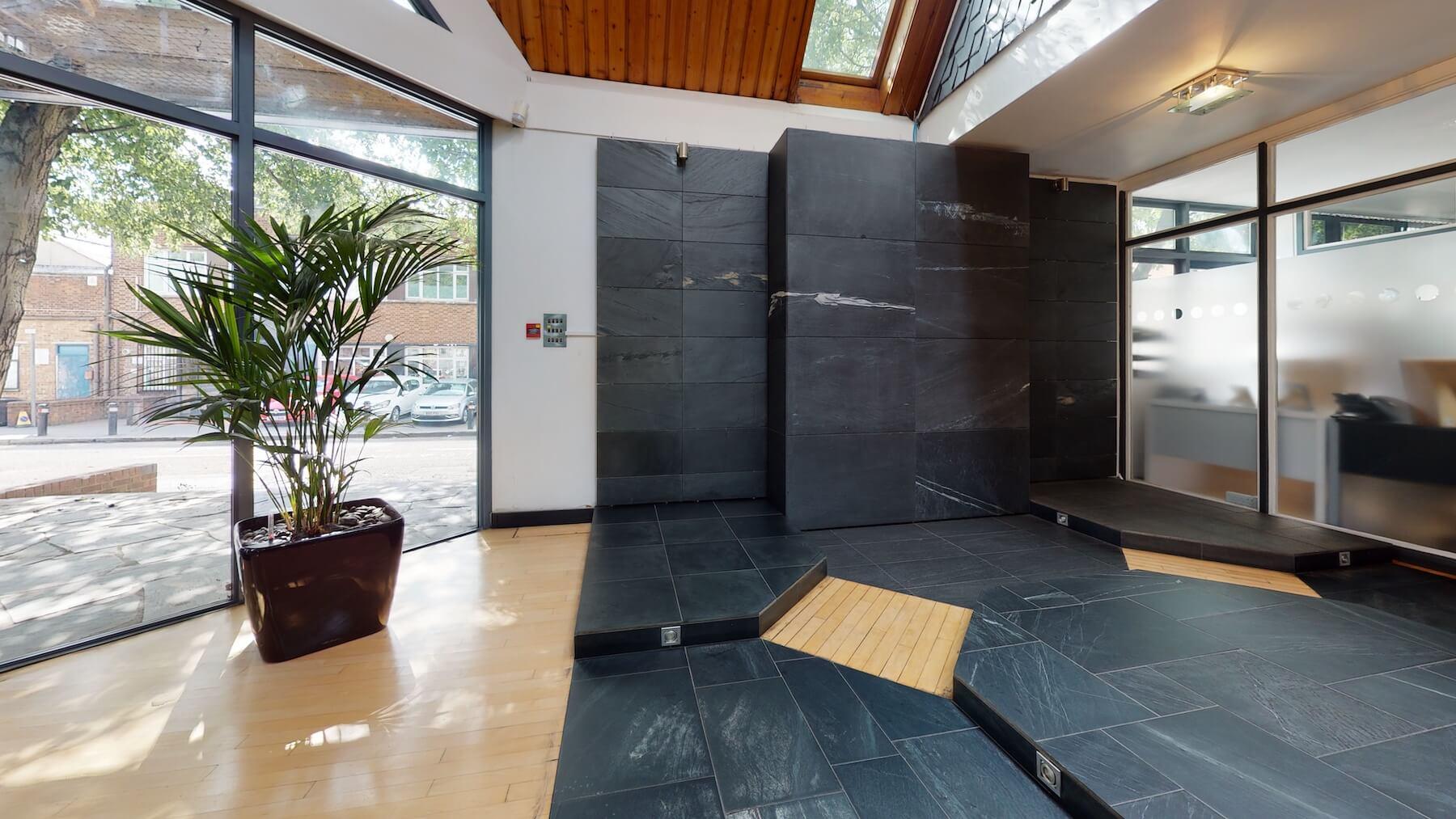 slate tiles in showroom