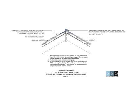 Typical Lead Roll Ridge Detail
