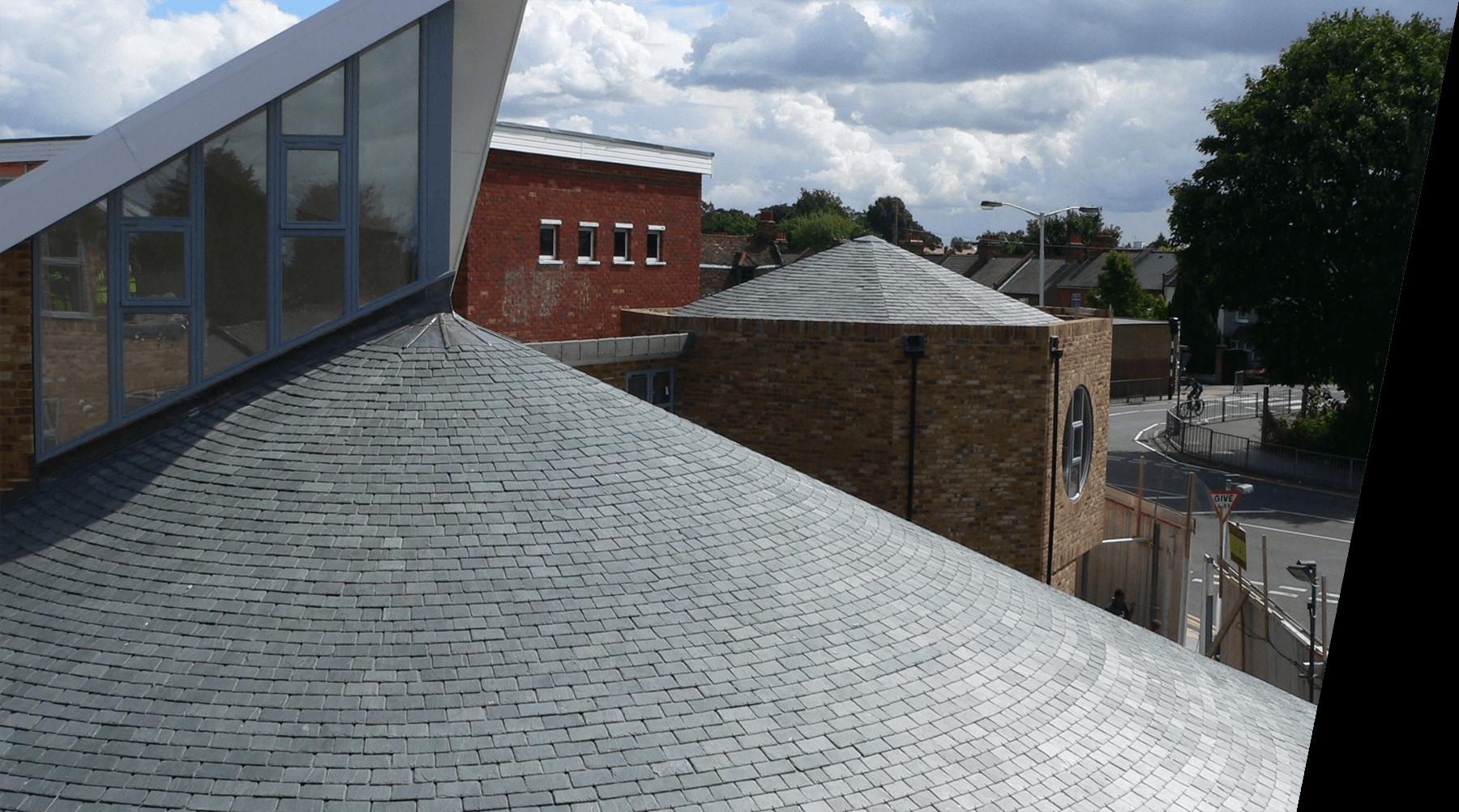 circular slate roof