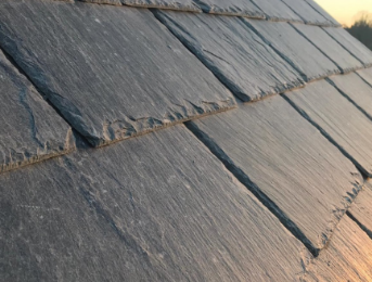 close-up of slate roof