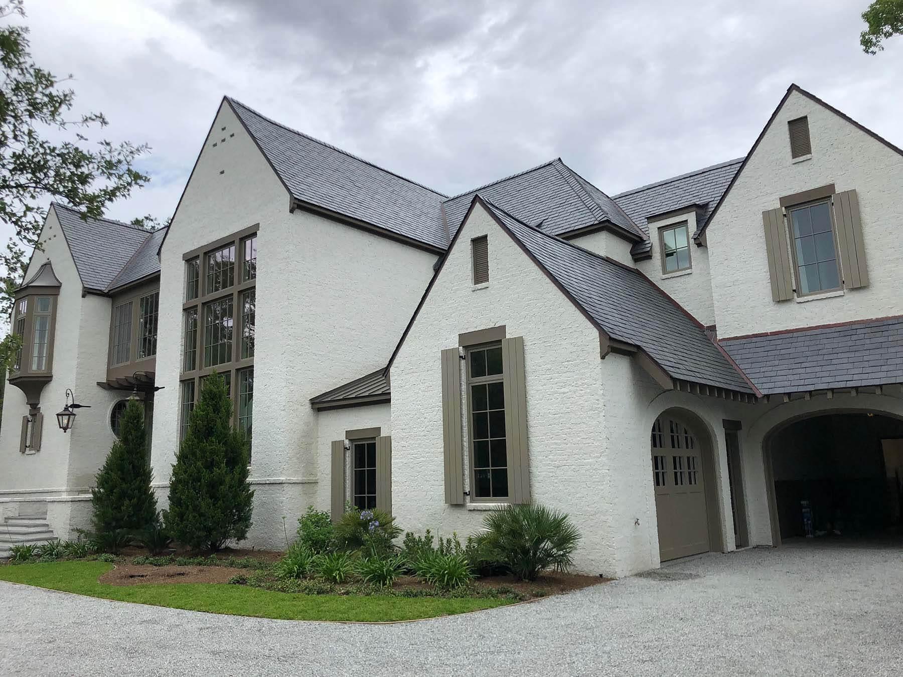 large slate roof