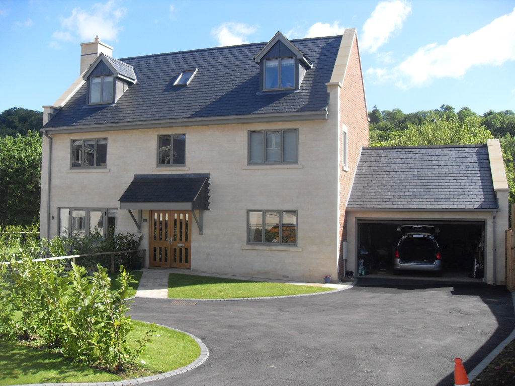 house with slate tiled roof
