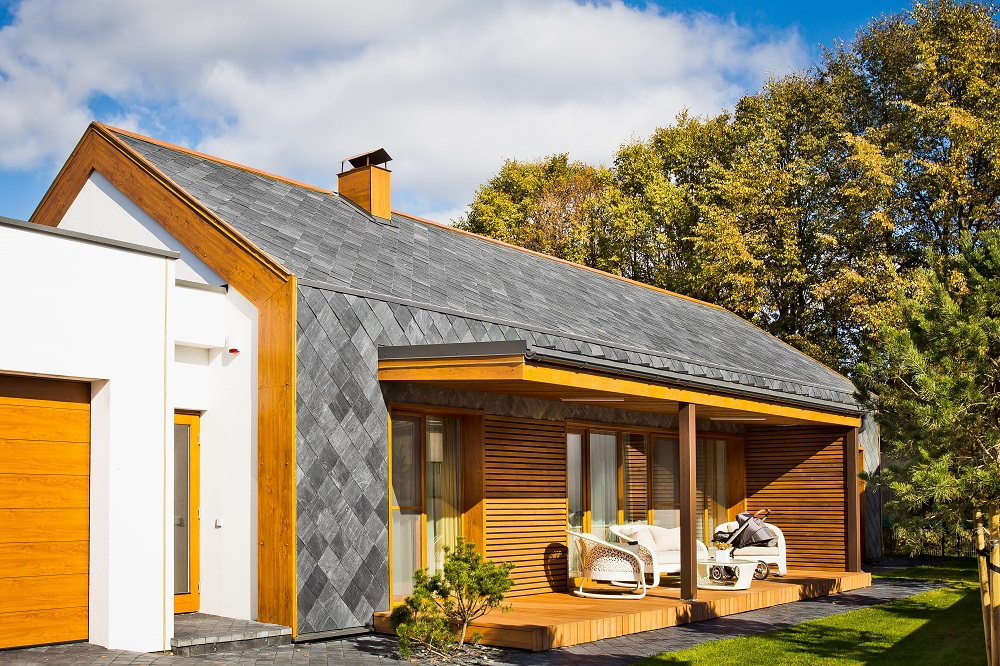 slate roof and walling