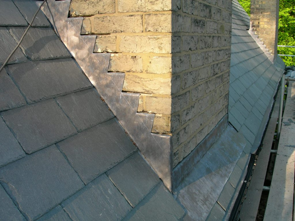 selwood house slate roof and chimney