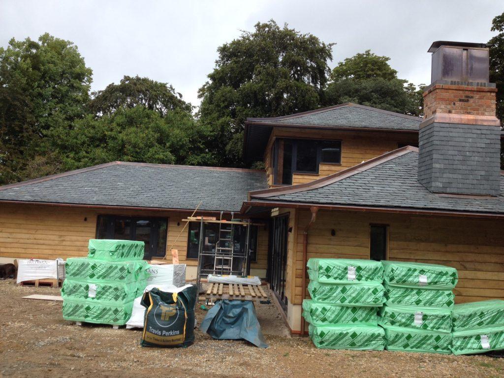 summer house slate tiled roof
